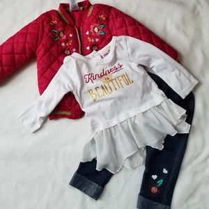 3 piece girls outfit